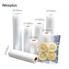 Nineplus 1 Roll Hight quality Vacuum Sealer Food Saver Bag for Kitchen Vacuum Storage Bags12+15+17+20+25+28cm*500cm(China)