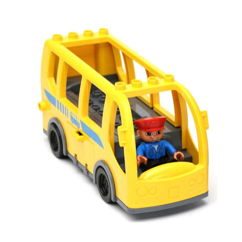 Yellow City Bus+ Driver Big Building Blocks Set Baby Toys DIY Toys Educational Toys<br><br>Aliexpress