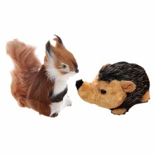 SPMART cute Stuffed Plush squirrel Hedgehog Doll Toy Gift for kits(China)