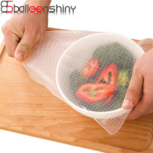 BalleenShiny S/M/L Silicone Lid Food Cling Film Fresh Keeping Reusable Stretch Cover Preservative Film Cooking Kitchen Tools(China)