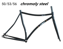 Fixed gear frameset PISTA ARC original Cr-Mo 50 53 56cm with fork fixed gear bicycle frame velo track bike frame+fork bicicleta
