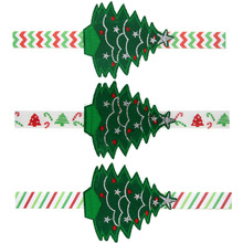 1pc Christmas Headband Stylish Merry Christmas Tree Pattern Ornaments Headdress Elastic Hair Band(China)