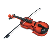 High Simulation Woodgrain ABS Violin Kids Educational Music Instrument Toy Play Set Only be Played by Hands