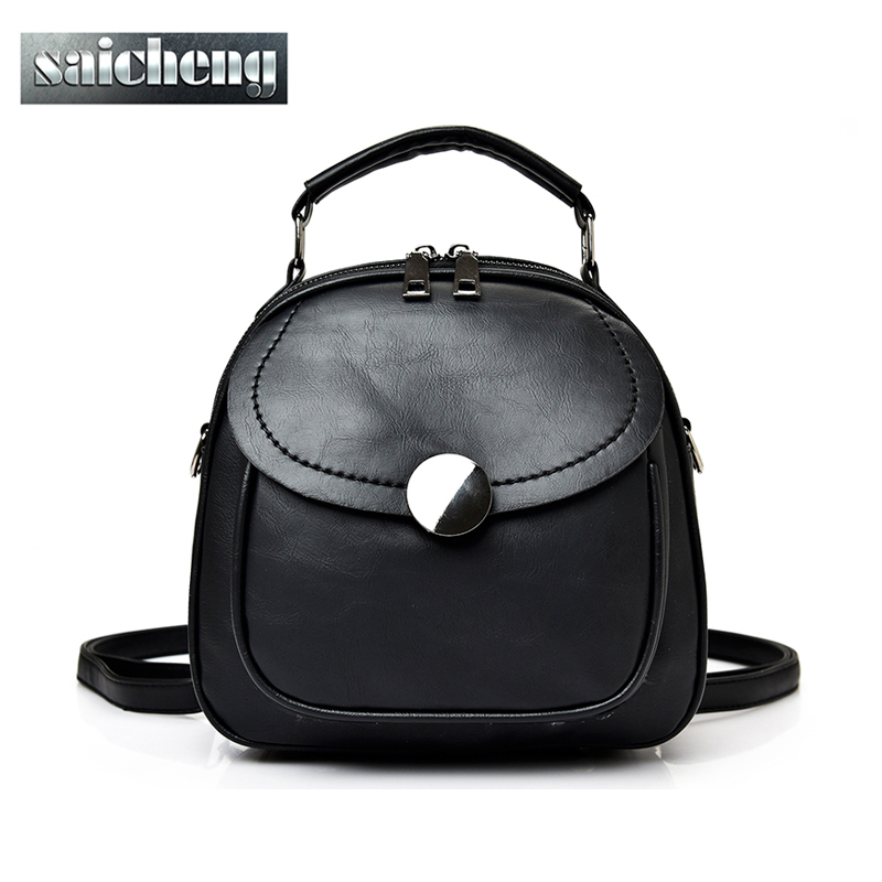 2017 Famous Brand Bag Women Backpack High Quality Pu Leather Backpack Women School Bags For Teenager Girls Mochila Sac a dos<br><br>Aliexpress