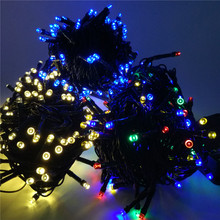YIYANG Solar Christmas Lights 4.8M-22M LED Solar Fairy String Light for Outdoor Gardens Homes Wedding Christmas Party,Waterproof(China)