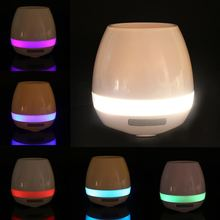 Smart Touch Sensor Music Playing Plant Flower Pot Bluetooth LED Light Lamp(China)