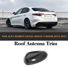 Carbon Fiber Auto Roof Antenna Exterior Trim case for Toyota Alfa Romeo Giulia 4 Door 2015 2016 2017 Quadrifoglio TI Car Sticker