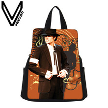 VEEVANV Brand 2017 Michael Jackson Image Women Backpack Daily Capacity Canvas School Bag Female Michael Jackson Prints Backpacks
