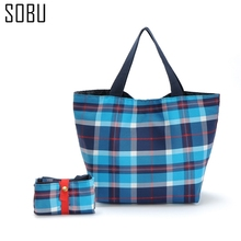 2017 Fashion Unisex Women Men Reusable Shopping Bag Grocery Star Dot Striped Handbags Tote Environmental Folding Bags K077