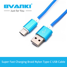[Bvanki Type-C]500Pcs/lot china product Best Quality Unique design Round Nylon Braided USB 3.0 usb type-c cable For Iphone