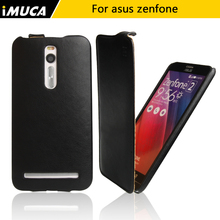 IMUCA For asus zenfone 2 ze551ml cases cover 5.5 PU leather asus zenfone 2 ze551ml Vertical Flip Waterproof Original phone Cases