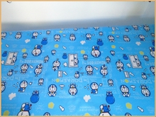 50*142cm Cartoon Doraemon printed pvc waterproof fabric/Aprons cloth/Raincoat fabric for tablecloth Quilting Home For Sewing