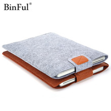 BinFul 11,12,13,14,15 inch Wool Felt Inner Notebook Laptop Sleeve Bag Case Carrying Handle Bag For Macbook Air/Pro/Retina(China)