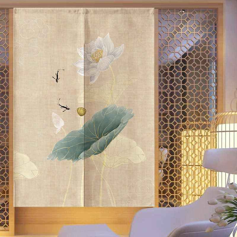 Traditional Chinese Ink Style Door Curtain Japanese Curtain Noren Room Decoration Feng Shui Door Curtain