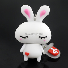 Free shipping, Cute rabbit usb flash drive 2GB 4GB 8GB 16GB 32GB usb thumb pen drive usb stick, 64GB catoon Rabbit pendrive(China)