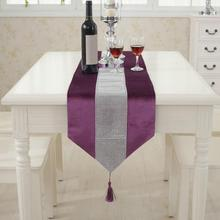32cm x 180cm Table Runner Flannel Diamond Table Marriage Runners Christmas Decoration Purple Golden Table Runner