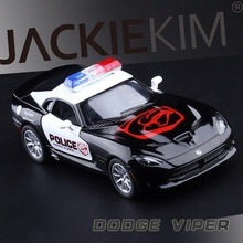 High Simulation Exquisite Diecasts&Toy Vehicles: KiNSMART Car Styling Dodge Viper GTS Police CCar 1:36 Alloy Diecast Toy Model(China)