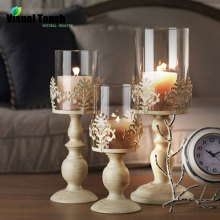 Visual Touch Romantic Iron Candlestick Holder Candle Stand TeaLight Holder Lantern Candle Holder Wedding Decoration Gift