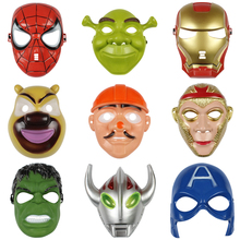 Brand new Super Hero Mask Iron Man Cartoon Toy Spider Batman Pacifier Captain America The Hulk Plastic Child's Theme Party Gift