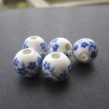 20pcs/lot 10mm Diy beads print ceramic beads ceramic beads handmade materials  17Colors