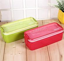 New Design 750ml Collapsible Portable Food Storage Container Microwave Oven Lunch Bento Boxes Folding Lunchbox Eco-Friendly