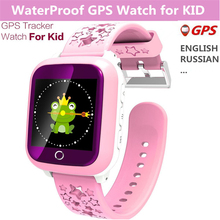 Waterproof Rubber Smart Watch Touch Screen Girls Step GPS Locator Tracker Boys Wristwatch Kids Healthy Fitness Smart Watch Gifts(China)