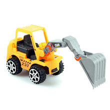 Mini Truck Model Toy Kids Children Yellow Construction Forklift Truck Car Models Play Game Gift Toys