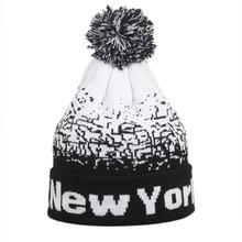"Fashion Unisex Men Women ""NewYork"" Letter Baggy Warm Winter Wool Knit   Beanies Female Male Skull Slouchy Knitted Caps Hat Men"