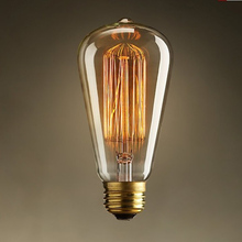 Retro Edison Light Bulbs E27 40W/60W,Incandiscent Vintage Light Bulbs For Table Lamps,ST64 Bulbs G125 Light Bulbs For Home Decoration(China)