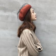 2019 Nova Primavera Chegadas Rendas Malha Boina Chapéu Do Vintage das  Mulheres Outono Inverno Coreano Cap 5d896395da6