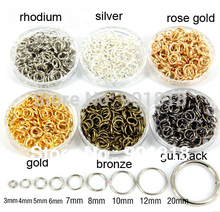 4mm 200pcs/bag wholesale bronze/white/silver/gold/rhodium Tone Jump Rings&Split Rings DIY split Rings for jewelry findings F309C(China)