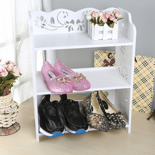 Stay Gold Waterproof Environmental Protection Carved Three Layer Storage Shoe Cabinet Shose Organizer Storage Box(China)