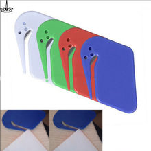 Plastic Mini Letter Knife Letter Mail Envelope Opener Safety Paper Guarded Cutter Blade Office Equipment Random Color(China)