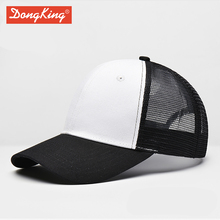 DongKing Cotton Trucker Cap Casual Solid Adjustable Mesh Baseball Caps Snapback Men Women Adult Custom Personalized Embroidery(China)