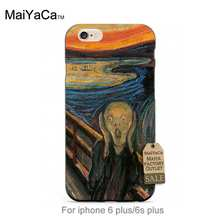 Black tpu silicone The Scream by Munch Colourful Style Design   Cell phone case For case iPhone   5s 6s 6splus 7 7plus