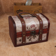 The new European-style jewelry box antique stamps princess jewelry box sets of antique wooden gift box factory direct