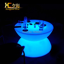 LED Bar Coffee Table Color Changeable Drinking Desk Plastic End Tables Furniture For Living Dining Room Wedding Ceremony Party