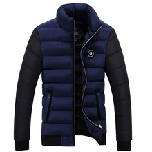 Men Winter Jacket Fashion Brand Warm Down Parka Cotton Padded Male Coat For Drop SHIpping(China)