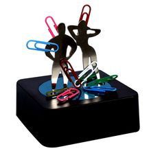 9Pig/Magnet Magnetic Sculpture Man Woman Male Female Colorful Paper Clip/Creative Novelty Birthday Gift Office Decompression Toy