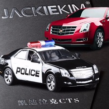 Brand New 1:32 Cadillac CTS Police Alloy Diecast Model Car Vehicle Toy Collection Gift For Boy Children Free Shipping
