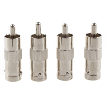DSHA New Hot 10Pcs BNC Female TO RCA Male Plug COAX Adapter Connector(China)