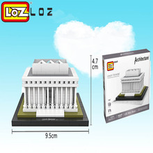 LOZ Qute world architecture famous Solomon R.Guggenheim Lincoln Memorial Sungnyemun DIY building blocks toys educational toys(China)
