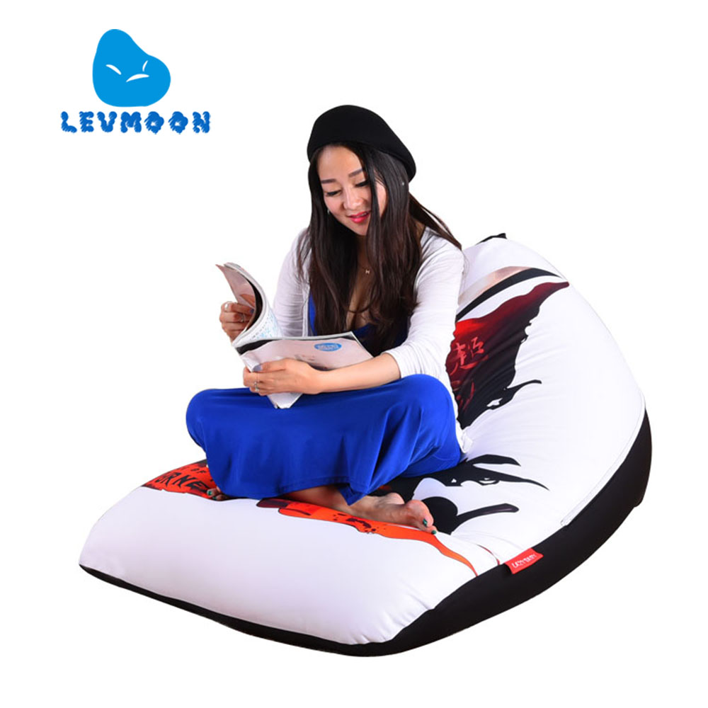 LEVMOON Beanbag Sofa Chair Super God Seat Zac Comfort Bean Bag Bed Cover Without Filler Cotton Indoor Beanbag Lounge Chair<br>