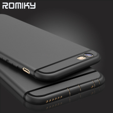 Romiky Ultra Thin Silicone Back Cover For iphone 7 6s plus Soft TPU Matte Phone Case For Iphone  6s 6 7 plus Phone  Bags