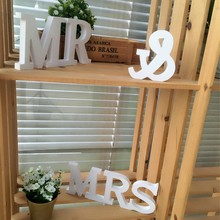 Wedding Decorations MR & MRS PVC Wood Plastic Letters Words Sign Centerpieces Table Decor Hot Sale