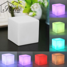 7 Colors LED Decorative Lights Moving Humor Cubes Glow of Night Light Bulb Gadget Home Party  Decor Emergency Lamp