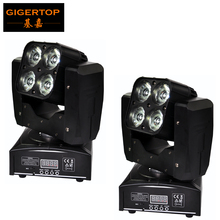 Buy TIPTOP 2XLOT Mini 4 Eye 60w Led Moving Head Light RGBW 4IN1 Beam Special Effect Mounting Clamp CE ROHS DMX 14/21CH 3 Degree Len for $310.00 in AliExpress store