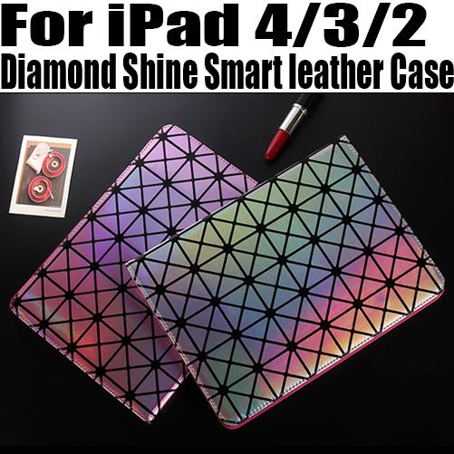 20Pcs/lot DHL Free Fashion Luxury Diamond Shine Smart leather Case For iPad 4/3/2 Stand Case For iPad4 NO: I402<br><br>Aliexpress