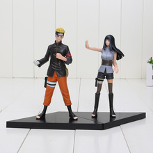 2pcs/set 15cm Naruto Uzumaki Naruto Hyuuga Hinata PVC Action Figures Collectible Model Toys