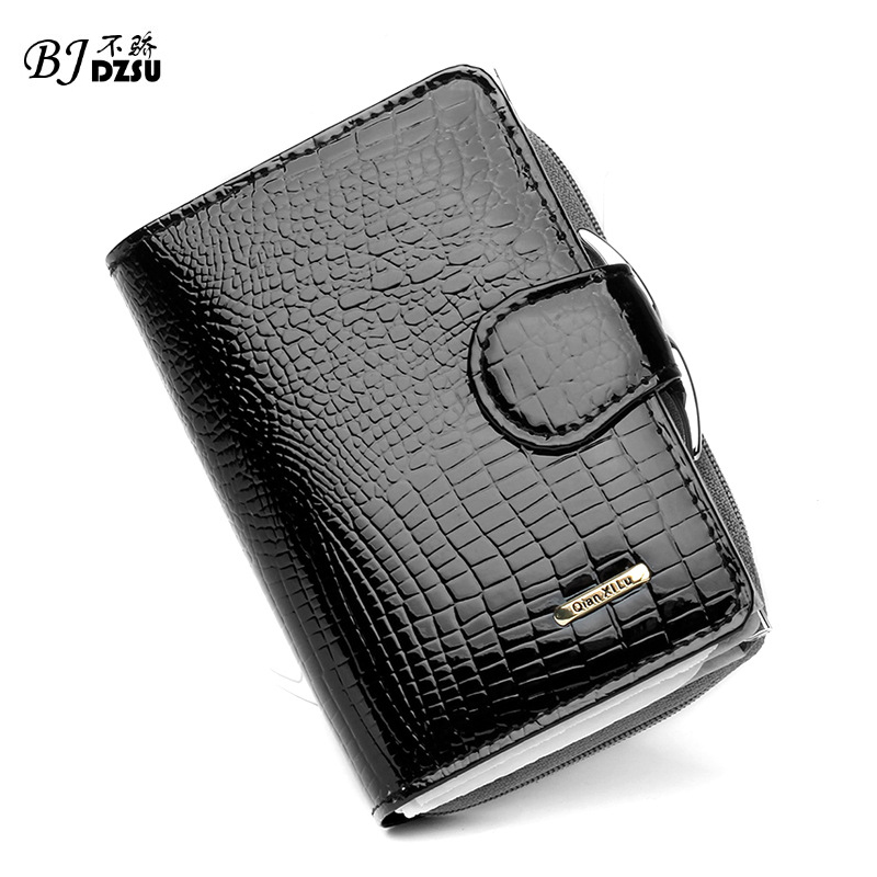2016 Patent leather wallet real leather brief paragraph female zero wallet Hob buckles a purse Contracted fashion design<br><br>Aliexpress